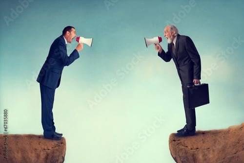 Canvas Print business conflict