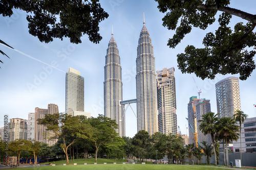 KLCC Park at early morning in Kuala Lumpur, Malaysia