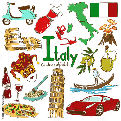 Photo Collection of Italy icons
