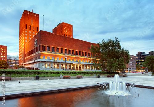 Foto Oslo city hall, Norway