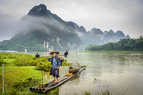 Cormorant Fisherman on the Li River, China