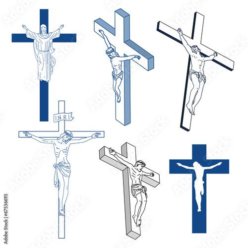 Christian signs. Fotobehang