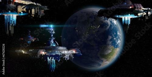 Tela Alien UFO motherships invasion nearing Earth