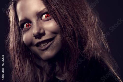 Canvas Print Girl possesst by a demon