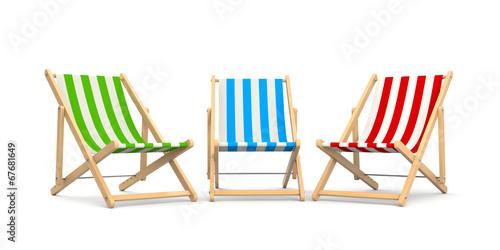 Cuadros en Lienzo Deck chairs