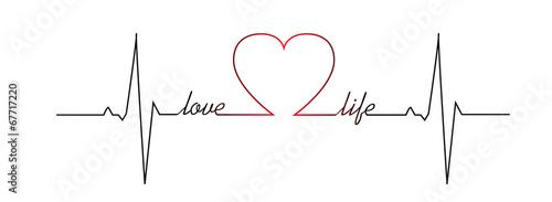 Fotografiet Love life heart beat