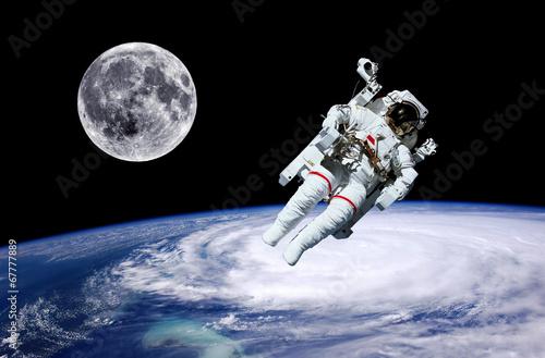 Astronaut Earth Moon Space #67777889