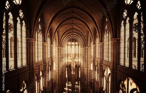 Chiesa cattedrale gotica Fototapeta