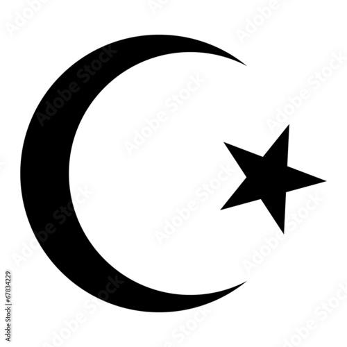 Fényképezés Star and crescent icon