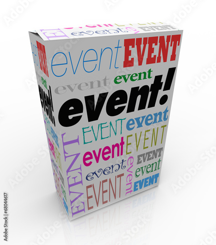 Event Word Package Box Advertise Special Show Meeting #68044617