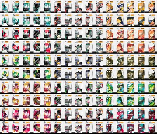 Fotografia Set of 150 business flyer templates