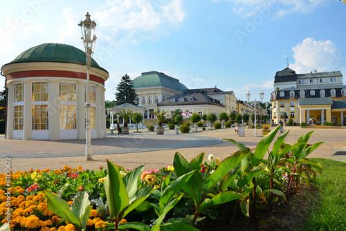 Canvas Print Spa colonnade in  Franzensbad in Czech republic