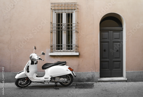 Canvas Print Typical italian motorcycle