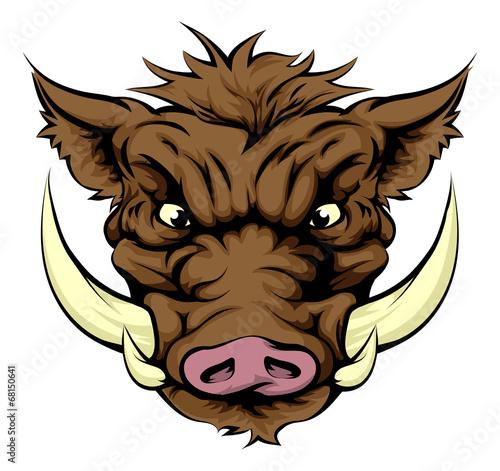 Valokuva Boar sports mascot character