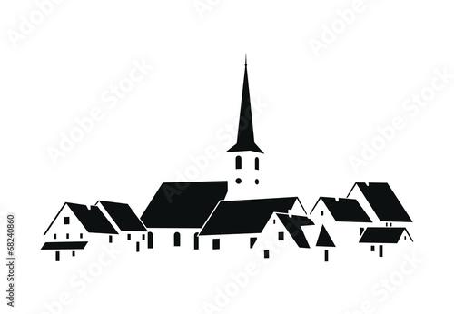 Canvas Print Vecteur Village