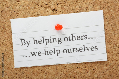 Obraz na plátne By helping others we help ourselves