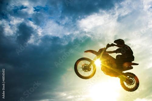 Canvas Print Motocross Bike Jump