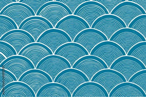 Fototapeta traditional chinese wave pattern