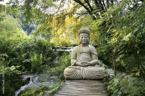 Bouddha et Bien-être Fototapet