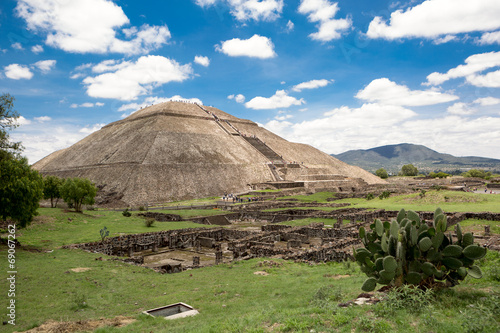 the pyramid of the Sun in Teotihuacan #69067262