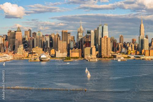 New York City midtown skyline over Hudson river Fototapet