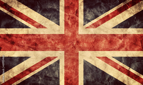 Canvas Print The United Kingdom grunge flag. Vintage flags collection