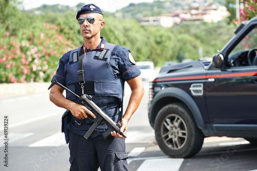 Fotografie, Obraz Italský policista carabinier