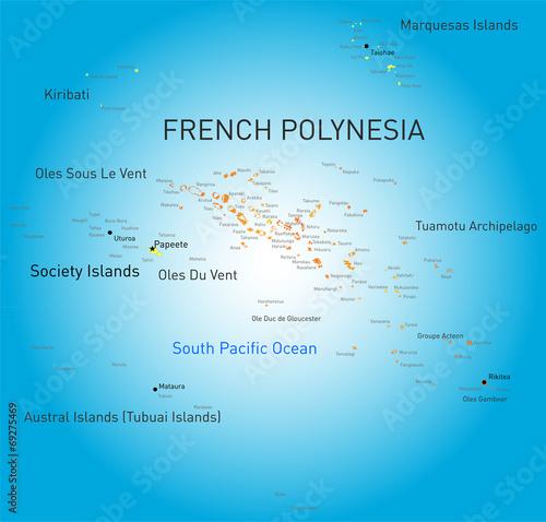 Obraz na plátně French Polynesia