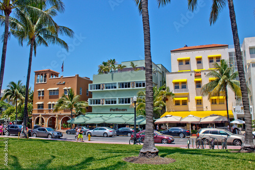 MIAMI - May 9, 2013: South Beach Miami with its iconic Art Deco