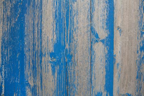 Naklejka na okno łazienkowe Wietrzejący stary drewno w błękicie jako tło