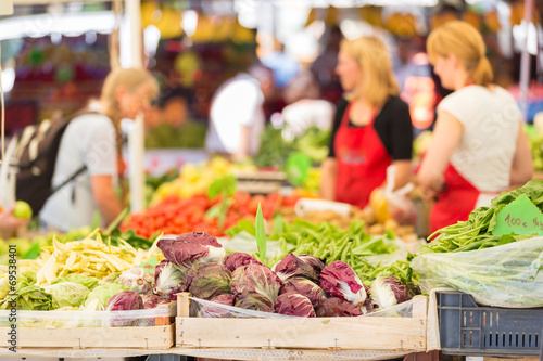 Stampa su Tela Farmers' market stall.