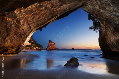 Leinwand Poster Cathedral Cove, Neuseeland