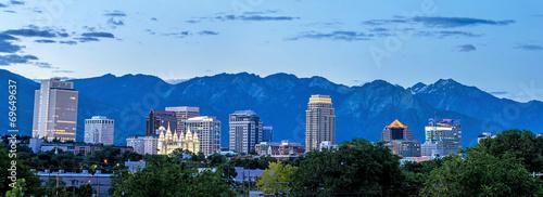 Fotografie, Obraz Salt Lake Cuty Utah skyline