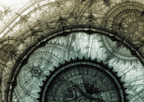Stampa su Tela Grey steampunk clockwork