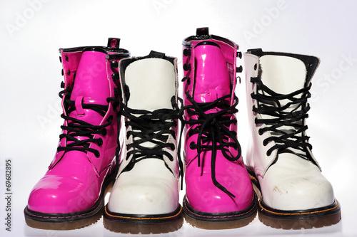 Fotografie, Obraz shoes, clothes, grunge, old, punk, vinitage, fashion,
