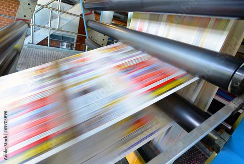 Photo Druckmaschine für Tageszeitung // printing machine