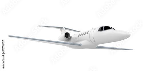 Fotografie, Obraz Airplane Jet Isolated