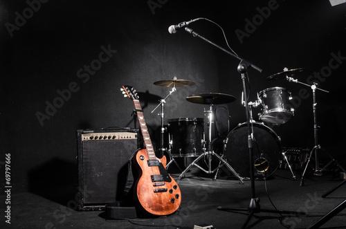 Carta da parati Set of musical instruments during concert