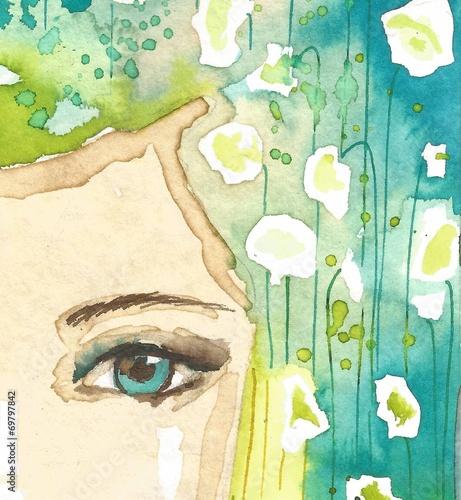 Fototapeta premium ilustracja abstrakcyjny portret kobiety