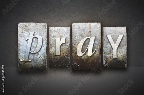 Fotografie, Obraz Pray Letterpress