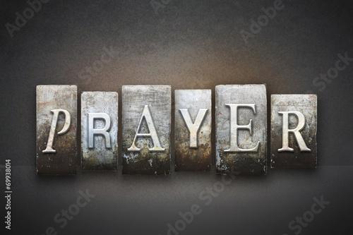 Obraz na plátně Prayer Letterpress
