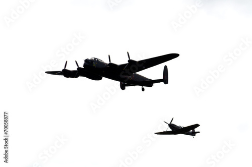 Wallpaper Mural Spitfire and B-17