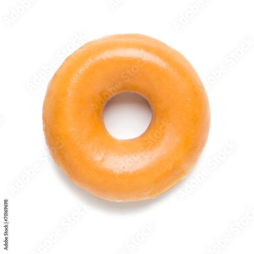 Glazed Donut on White фототапет