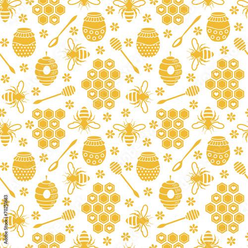 Wzór z pszczół i miodu