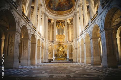 Billede på lærred 王の礼拝堂、王室礼拝堂、ベルサイユ宮殿