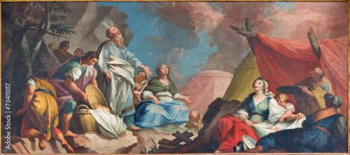 Fotografie, Obraz Padua - Moses and the Israelites Gathering of Manna