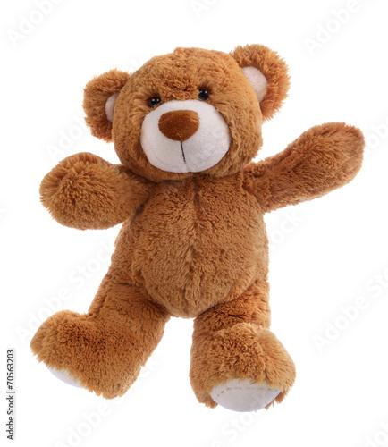 Sweet teddy bear waving his paw #70563203