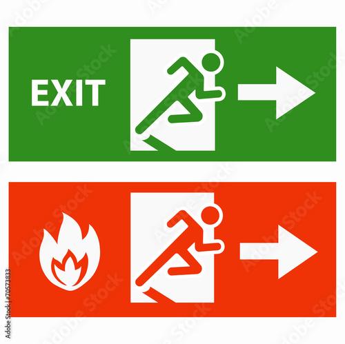 Emergency fire exit door Fototapeta