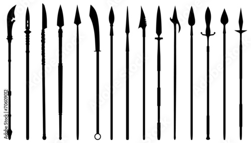 Fotografia spear silhouettes