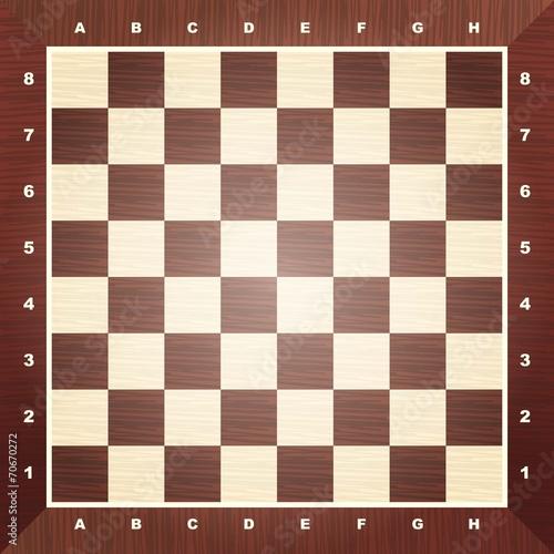 Cuadros en Lienzo Empty chess board